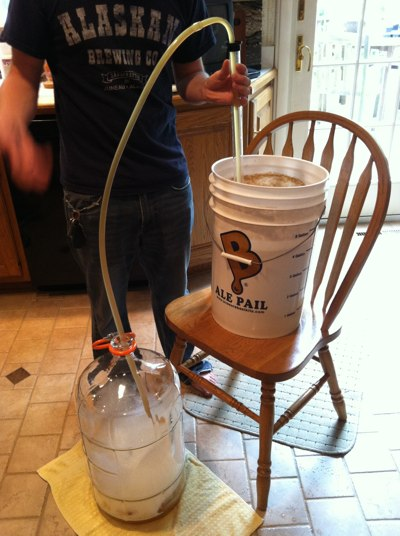 Racking the Wort to Secondary Fermentation